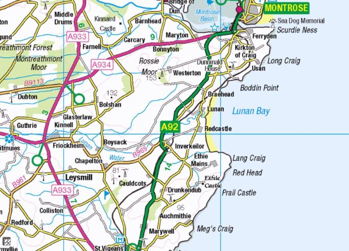 lunan bay map