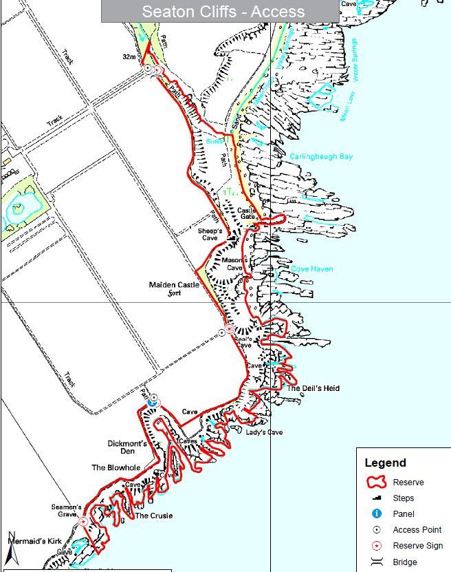Seaton map
